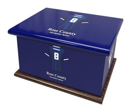 Custom Personalised Cremation Ashes casket Urn FOOTBALL TEAM ROSS COUNTY FC