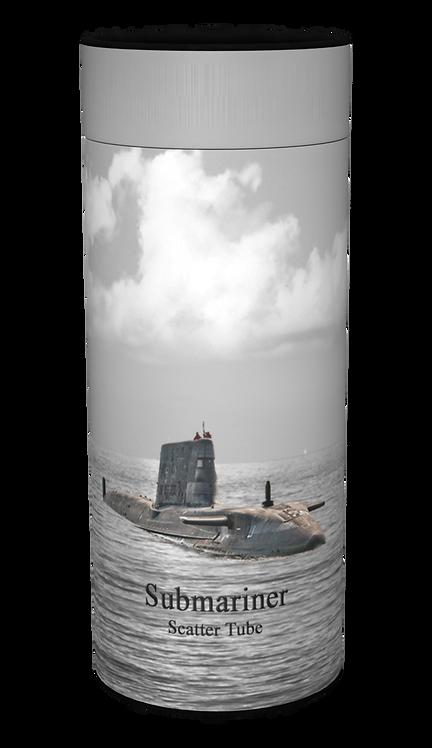 Custom Personalised Ashes Casket Urn Scatter Tube ROYAL NAVY SUBMARINE