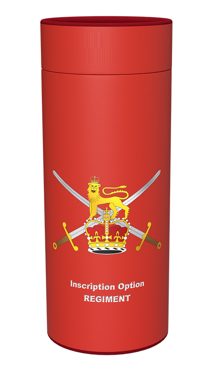Custom Personalised Ashes Casket Urn Scatter tube BRITISH ARMY