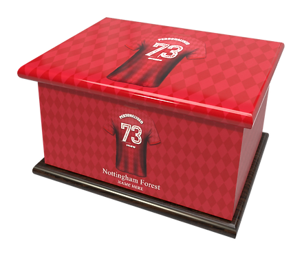 Personalised Custom Ashes Cremation Casket NOTTINGHAM FOREST FOOTBALL CLUB FOREST THE REDS