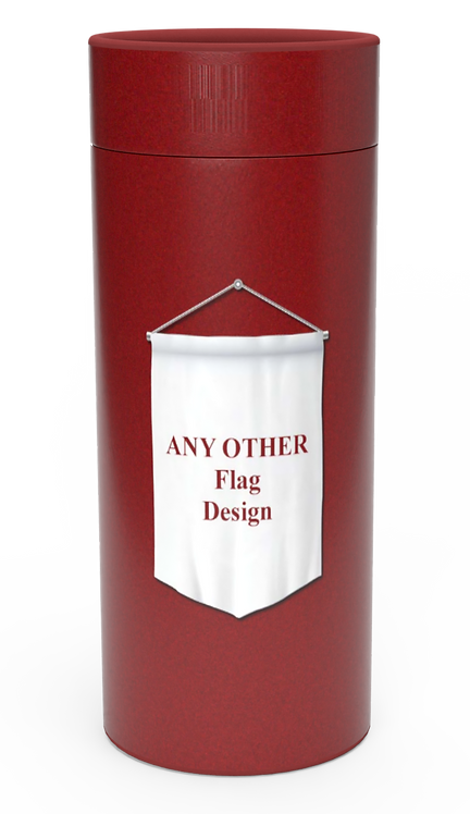 Personalised Custom Bespoke Ashes Scattering Tube Urn for Cremated Remains IN ANY FLAG DESIGN in four sizes