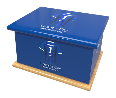 Custom Personalised Cremation Ashes casket Urn FOOTBALL TEAM LEICESTER CITY