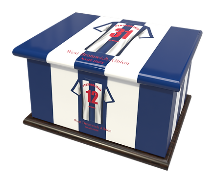 Custom Personalised Cremation Ashes Casket Urn FOOTBALL TEAM WEST BROMWICH ALBION