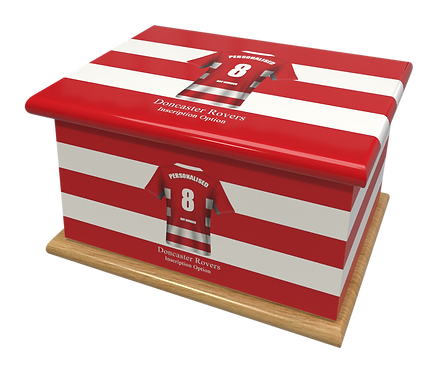 Custom Personalised Cremation Ashes Casket Urn FOOTBALL TEAM DONCASTER ROVERS