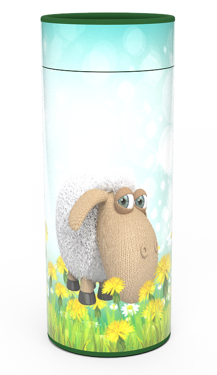 ashes scattering tube junior child infant baby sheep ridiculous woolly farm