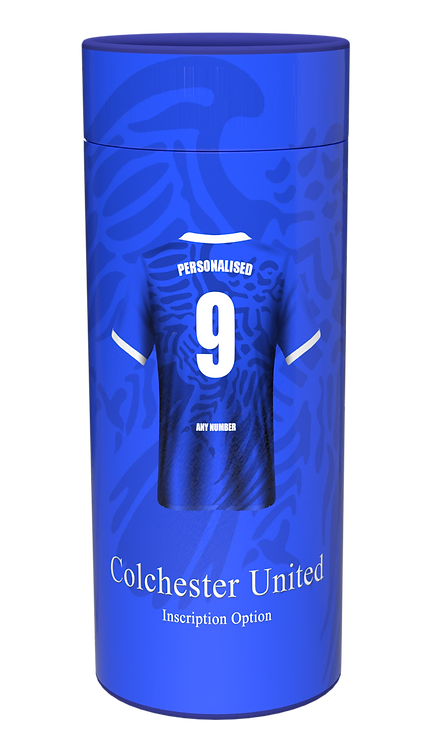 Custom Personalised Cremation Ashes Casket Scatter Tube FOOTBALL TEAM COLCHESTER UNITED