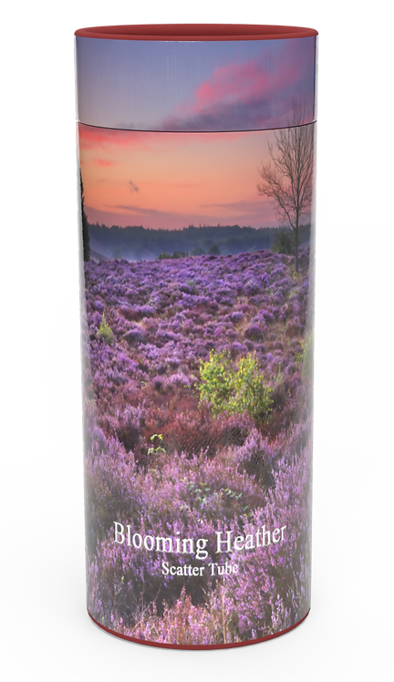 Custom Personalised Funeral Cremation Ashes Urn in four sizes HIGHLAND HEATHER SCOTLAND SCOTTISH