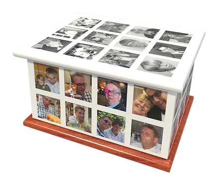 Personalised Photographic Montage Ashes Caskets and Urns Memories Galore