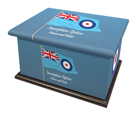 Custom Personalised Cremation Ashes Casket ROYAL AIR FORCE