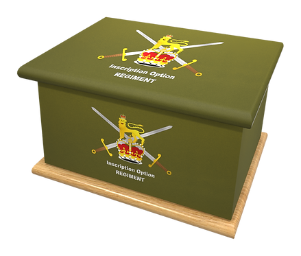 Custom Personalised Cremation Ashes Casket MILITARY RAF NAVY ROYAL MARINES