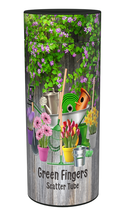 Custom Personalised Cremation Ashes Casket Urn GARDENING GREEN FINGERS