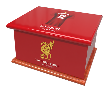 Custom Personalised Cremation Ashes Casket Urn FOOTBALL TEAM LIVERPOOL THE REDS
