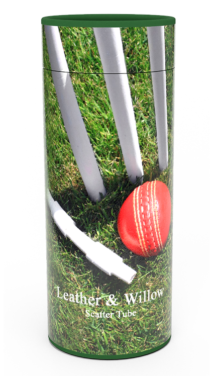 Custom Personalised Funeral Cremation Ashes Casket Urn Hobby Sport Interest LEATHER ON WILLOW