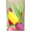 Personalised Custom Bespoke Ashes Scattering Tube Urn for Cremated Remains in Floral TULIPS design