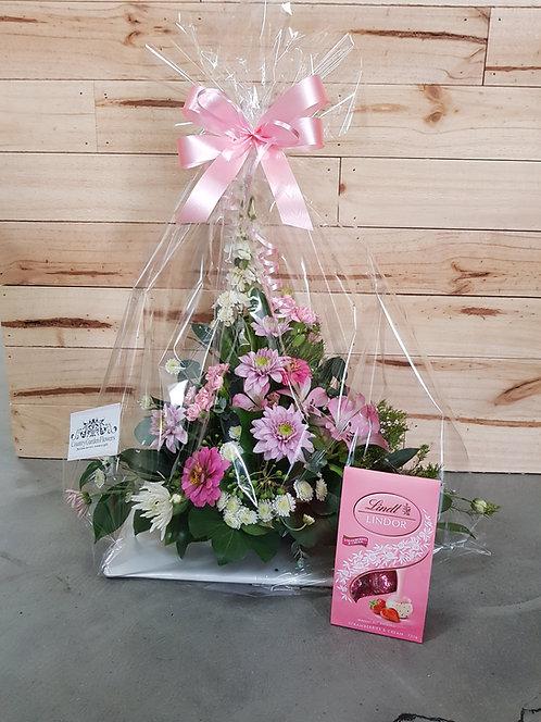 Florist Choice Posy Bowl & Chocolates