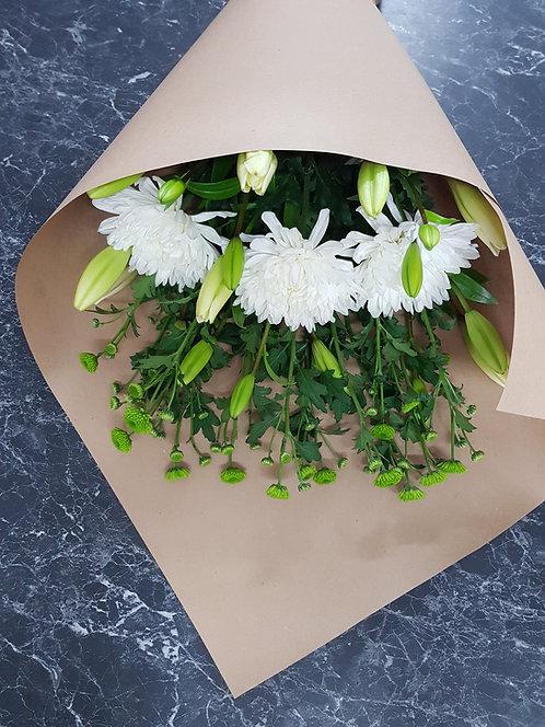 Eco White & Green Bouquet