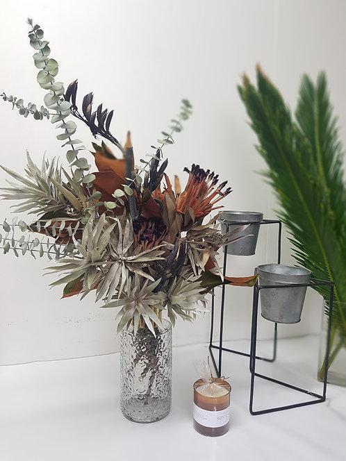 Large Dried Flower Arrangement