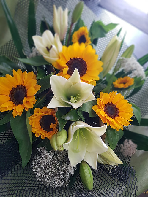 Sunflowers & Lilies Florist Choice