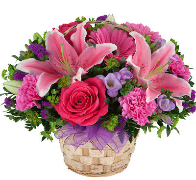 Pinks & Purple Basket