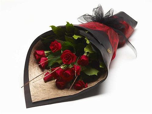 12 Red Devine Roses