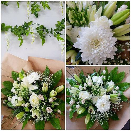 Classic White Vintage Bouquet FB