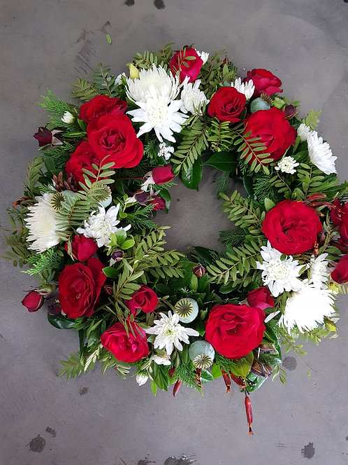 Wreath Ruby Red