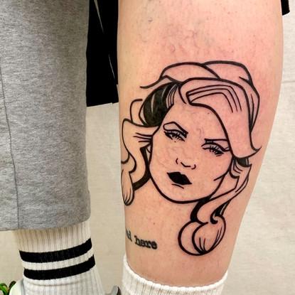 Tattoo graphic Blondie Debbie Harry Gien