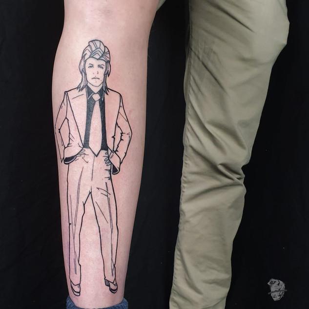David Bowie pin up tattoo _ graphic desi