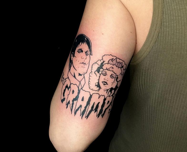 Illustrative tattoo The Cramps Gien Amst