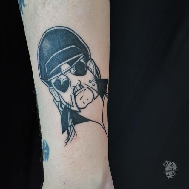Lemmy Motorhead tattoo _ ignorant style