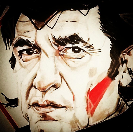 Johnny Cash portrait Gien Amsterdam Tatt