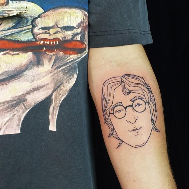 John Lennon tattoo by Gien Amsterdam_ Li