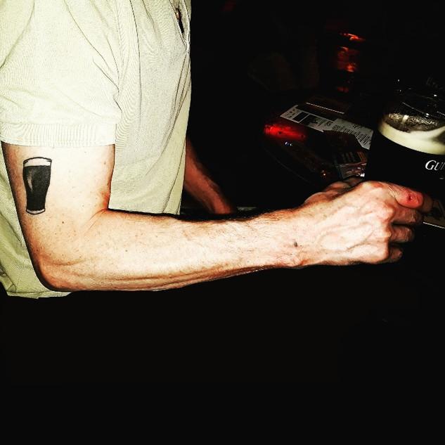 Pint Guinness Tattoo by Gien Amsterdam