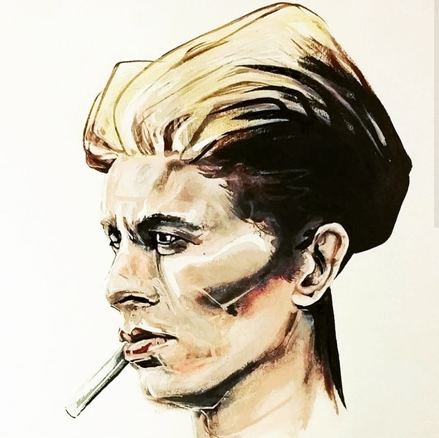 David Bowie painting by Gien Amsterdam