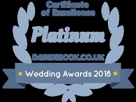Bridebook Platinum Certificate of Excellence