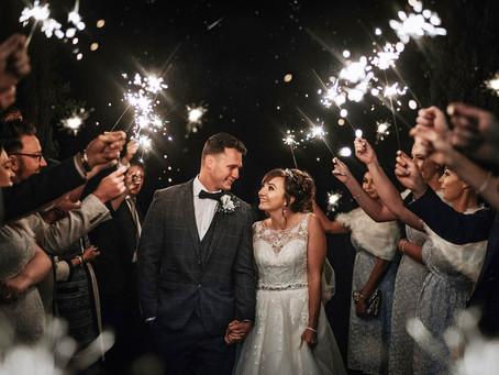 Wedding Sparklers by Kazooieloki Photography