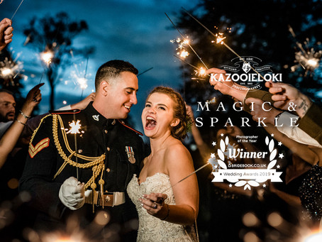 Wedding Sparklers by Kazooieloki Lincolnshire Wedding Photographer and 2019 UK Wedding Photographer