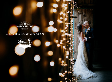 Georgie & Jason: Deepdale Farm Rustic Wedding by Kazooieloki Lincolnshire Wedding Photographer