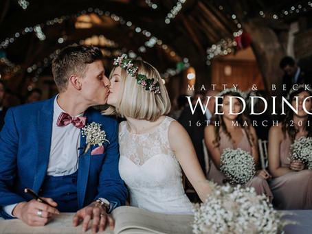 Matty & Becky: Movie Themed Notley Tythe Barn Wedding by Kazooieloki Photography.