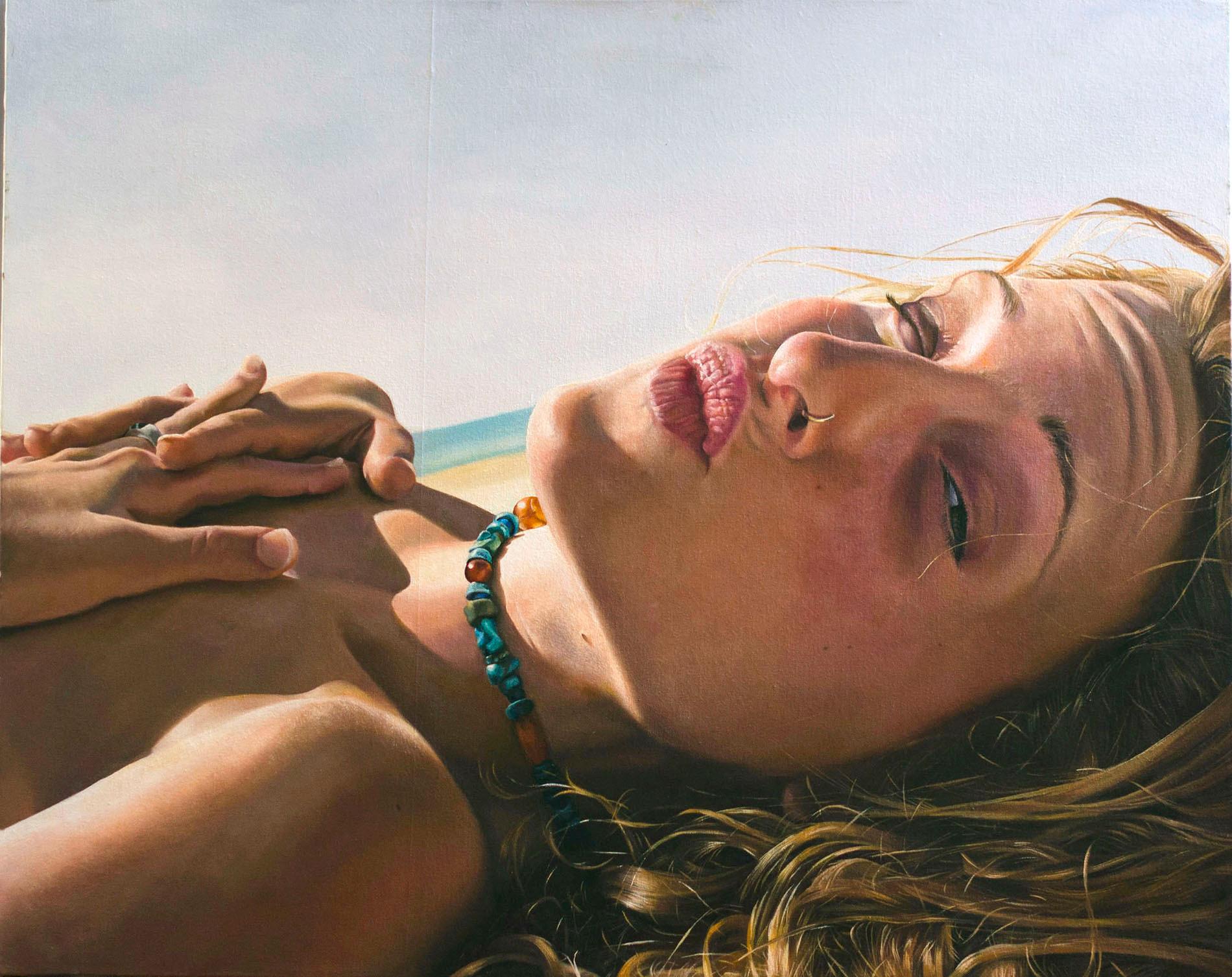 Sivan at the beach