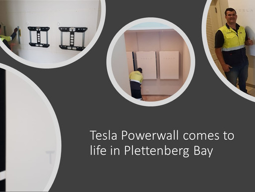 Tesla Powerwall comes to life in Plettenberg Bay!