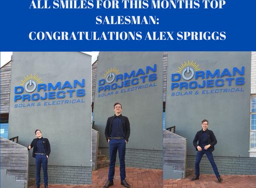 TOP SALESMAN: ALEX SPRIGGS