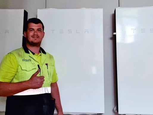 Armandt Muller of Dorman Projects puts 3 Tesla Powerwalls into play!