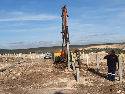 1MW of ground mount well underway