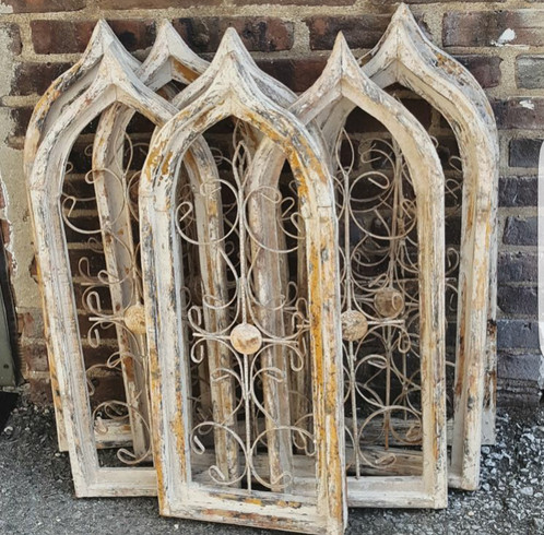 Cathedral Style Arch Shutters Windows Recycled Relics and