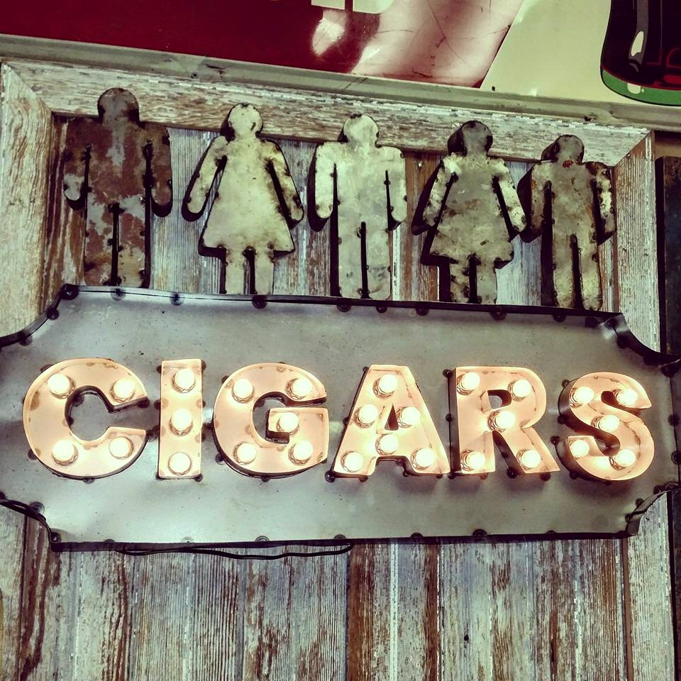 Cigars Lighted Metal Marquee SOLD0