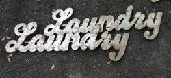 Laundry Metal Sign  SOLD