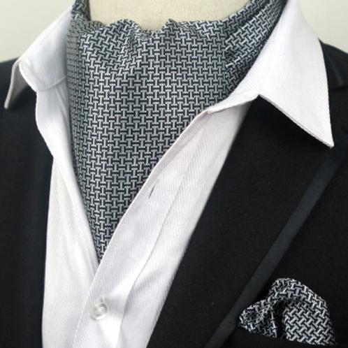 Silver & Black Ascot Set