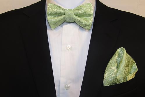 Sage Green 2 Piece Bow Tie Set