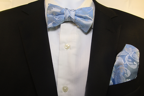 Sky Blue 2 Piece Bow Tie Set
